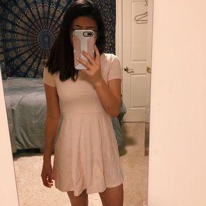 Light pink Forever 21 skater dress